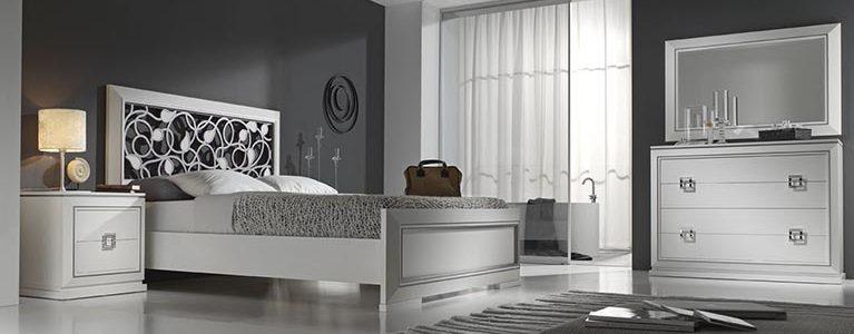 Cama-para-dormitorios-Mar-CABEZAL CALADO TABLERO PLATA