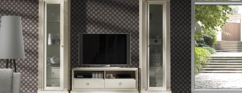 Muebles para comedores Pasion combinacion perla estantes