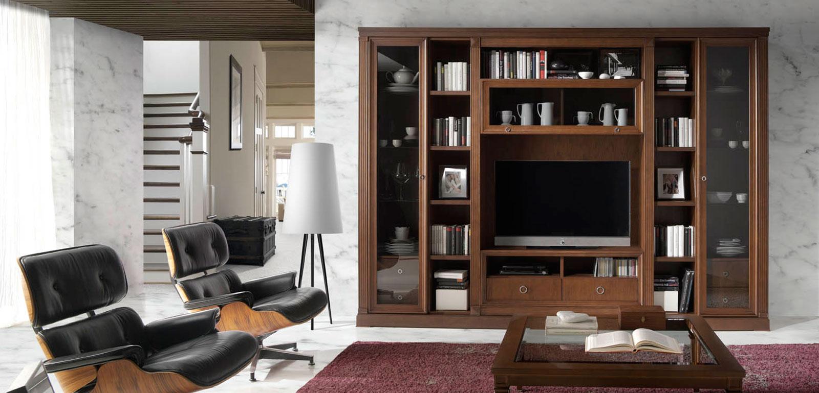Muebles monrabal chirivella estanter a colecci n pasi n - Estanterias para comedor ...