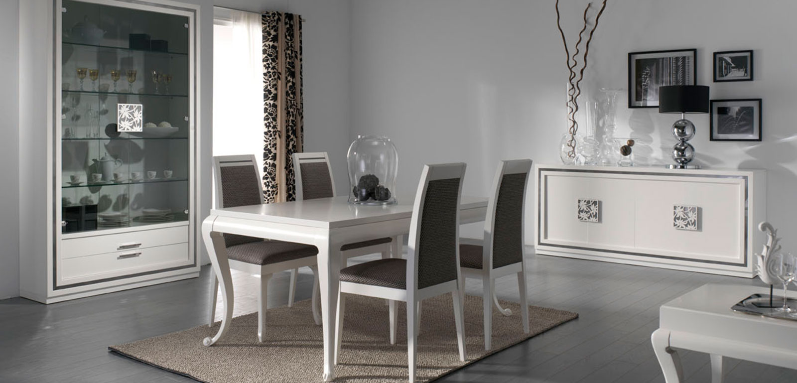 Muebles monrabal chirivella silla colecci n nilo - Muebles comedor blanco lacado ...