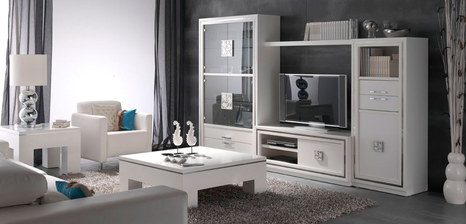 Muebles Lacados Blanco Para Salon.Muebles Monrabal Chirivella Mesa Centro Coleccion Nilo